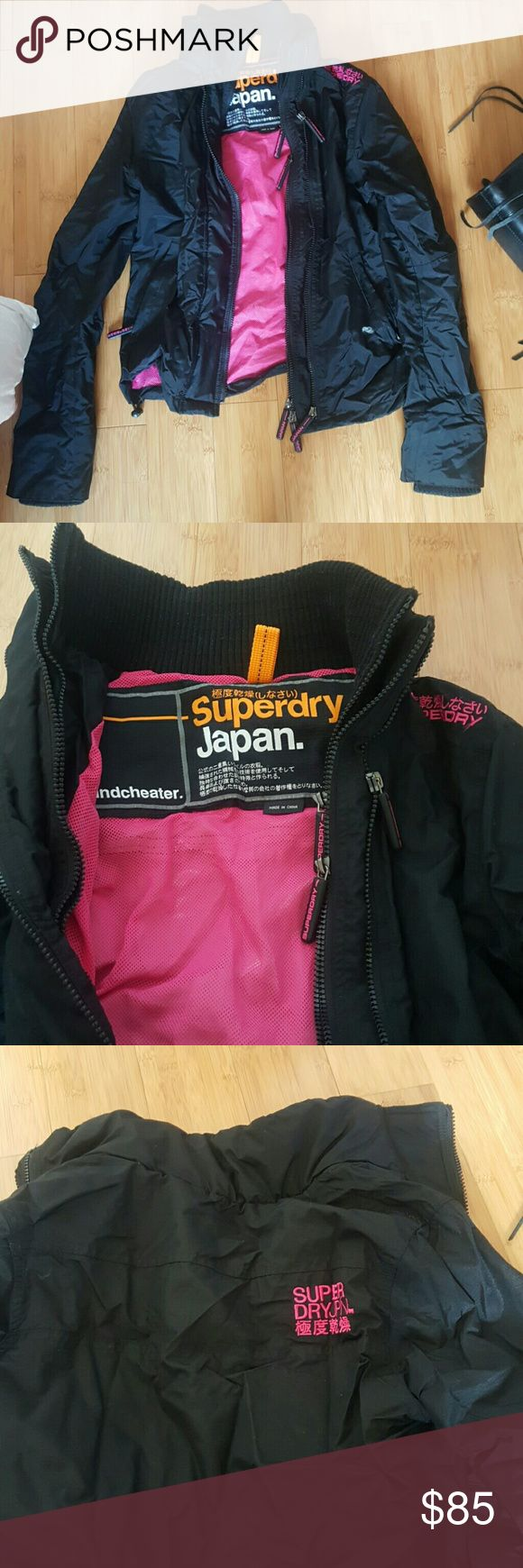 Super dry Japan superdry jacket Windbreaker windcheater jacket. Superdry. Nice and popular japan brand jacket! Keeps you warmer than the average Northlake one in my opinion. Very good condition. Love how the collar of the neck area is prominent and stands up to keep you warm Superdry Jackets & Coats Puffers