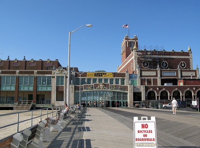 Asbury Park NJ Boardwalk Paramount Theatre and Convention Hall