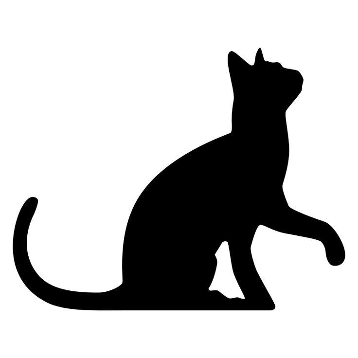 веекторный клипарт белого кота
