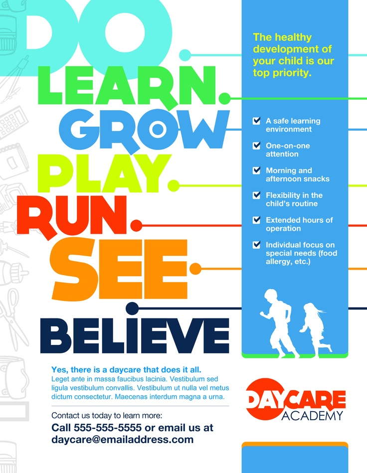 Marketing Childcare Poster