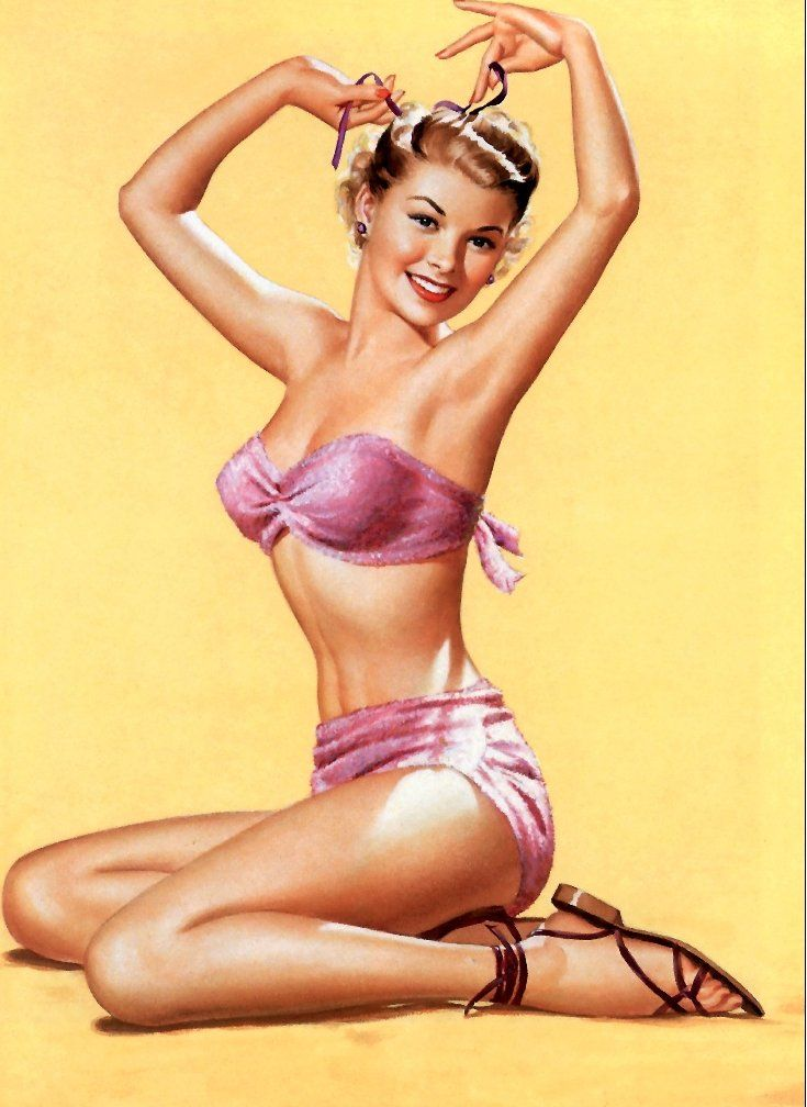 classic swimsuit pinup