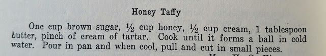 Honey Taffy, vintage candy recipe, Halloween, Chri...