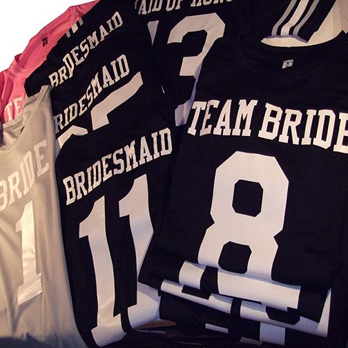 Full set of #wedding #footballjerseys for a #football Themed wedding.
