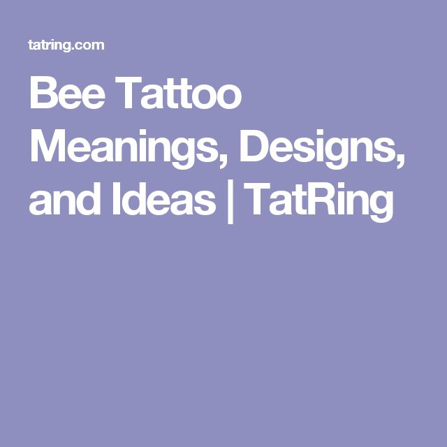Bee Tattoo Meanings, Designs, and Ideas | TatRing