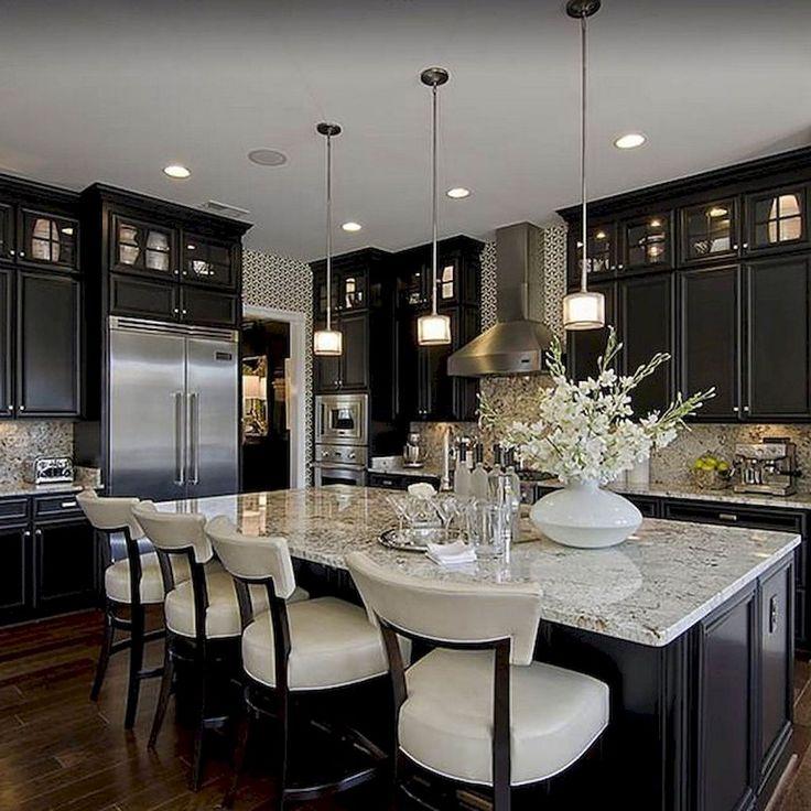 80 Beautiful Kitchen Backsplash Decor with Dark Cabinets