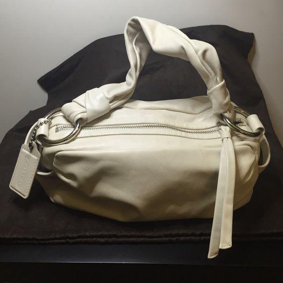 Coach Soft Leather Handbag Cream Colored Soft Leather