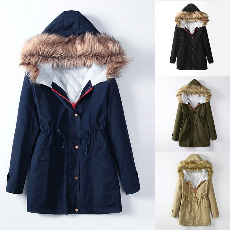 Winter Womens Jacket Cotton Hooded Parka Coats Tops Parker Ladies Coat Outwear