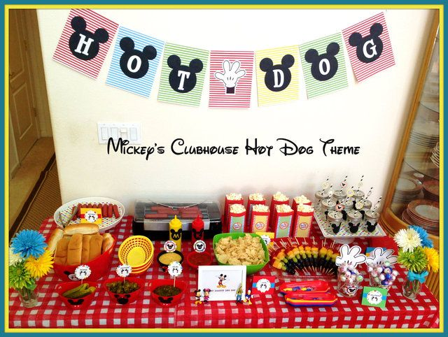 Food at a Mickey Mouse Party #mickeymouse #partyfood