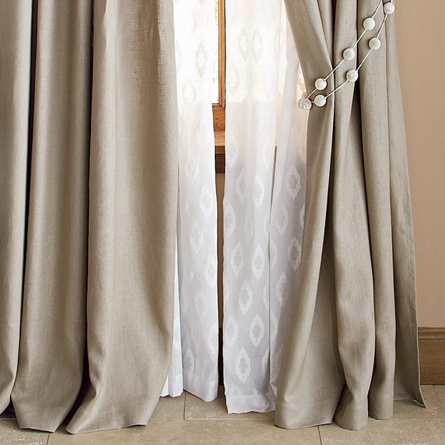 love the idea of the curtains