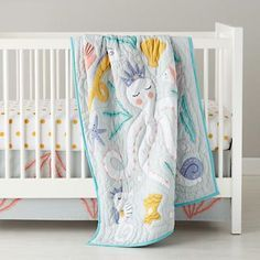 mermaid themed baby nursery | ... Nod | Baby Bedding: Marine Life Octopus Crib Bedding in Crib Bedding