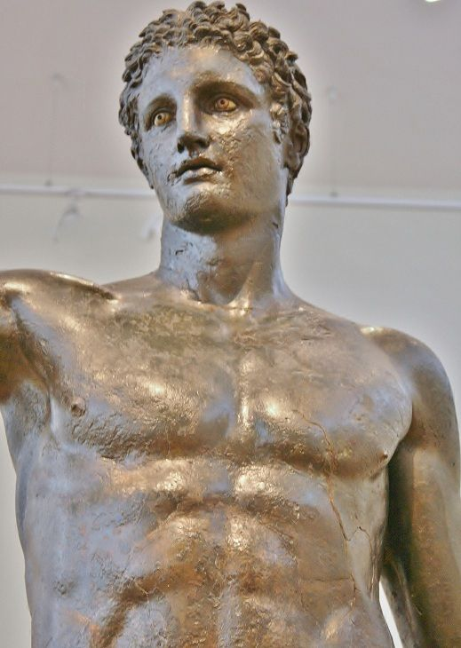 The Antikythera Ephebe is a bronze statue of a youth, Athens, National Archaeological Museum