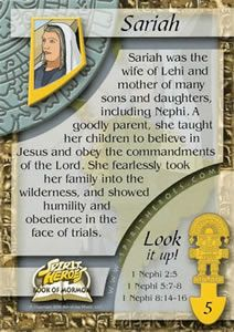 I love these cards and pictures of the Book of Mornon Heroes