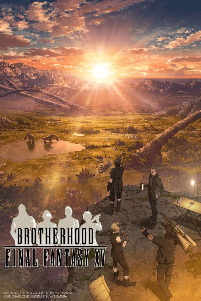 BROTHERHOOD FINAL FANTASY XV is a new anime series consisting of five standalone episodes. BROTHERHOOD delves into the extraordinary friendships between Crown Prince Noctis and his three comrades, setting the stage for the adventure players will set out upon in the action-packed RPG.