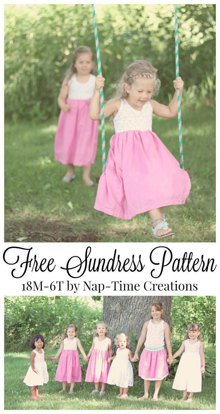 girls free sundress pattern 18M -6T from Nap-Time Creations