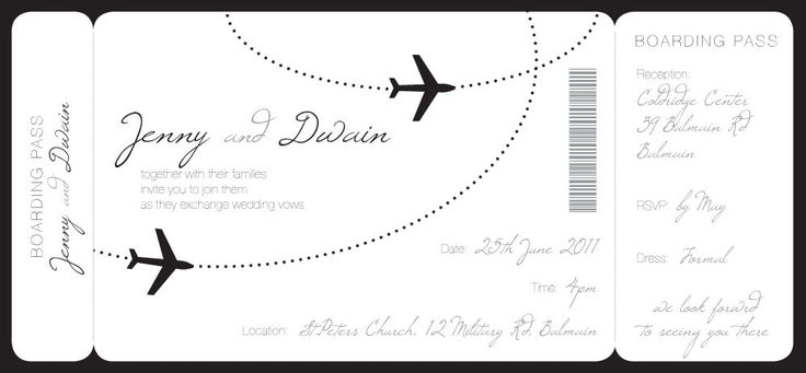 pretty boarding pass Wedding invitation Pinterest Boarding - free downloadable wedding invitation templates