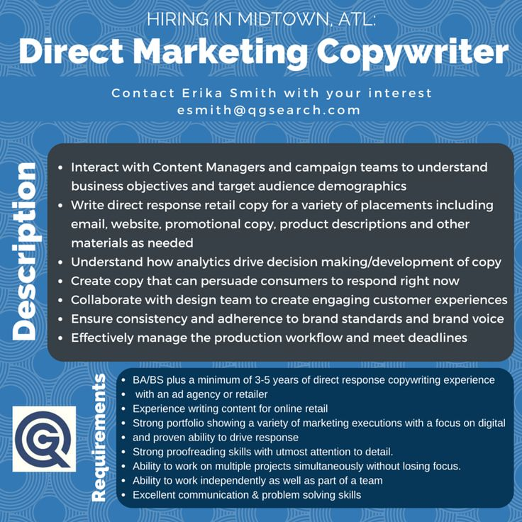 Weu0027re hiring a marketing copywriter on a long-term basis - contact - copywriter job description