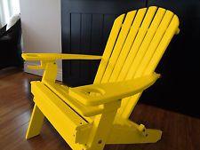 Novo Deluxe Poli Madeira Madeira Dobrável Adirondack Cadeira Com Otomana-Amarelo
