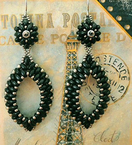 Linda's Crafty Inspirations: YouTube beading tutorial - Pendientes Gota con Superduo