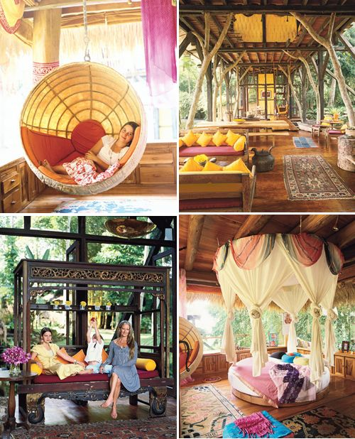 Ok, this is nothing what our beach bungalow looks like BUT EVERYTHING I want her to emulate! Reminds me of traveling throughout Bali, Indonesia. Yes and Yes. I want all of this ... in the U.S. AND in Bali. One day.