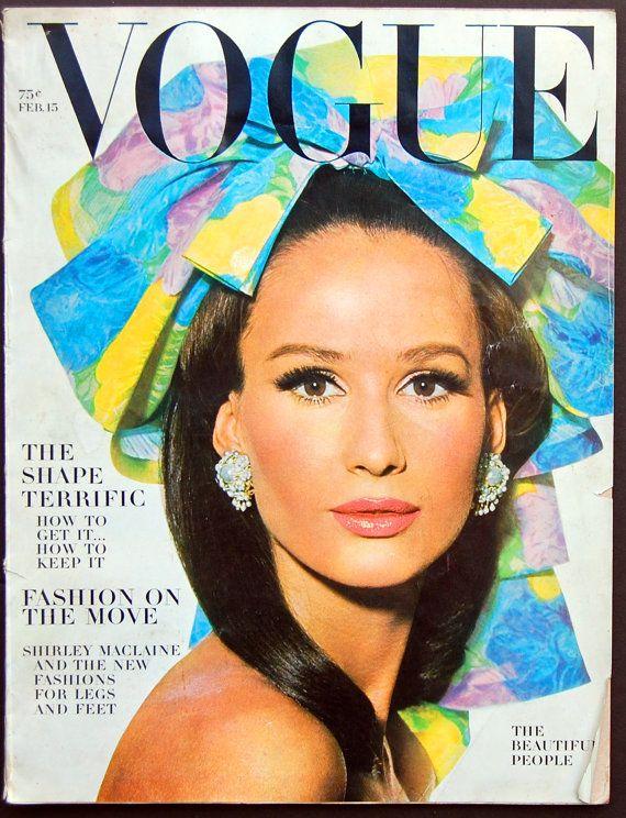 Vintage VOGUE Magazine February 15 1964 Avedon by ClothAndBoards