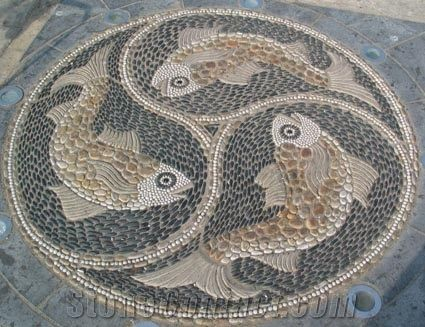 Pebble Stone Mosaic for Garden from China