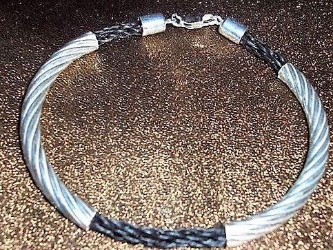 Armbänder - Armband Lajana aus Pferdehaar,Pferdehaarschmuck - ein Designerstück von horsehairdreams bei DaWanda