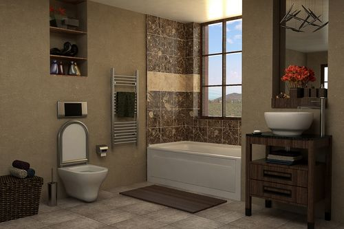 Bathroom. This royalty free 3D model or texture is available for download now! Modern Bathroom. All ready for render.     Category: 20ba2d2429fec3b...
