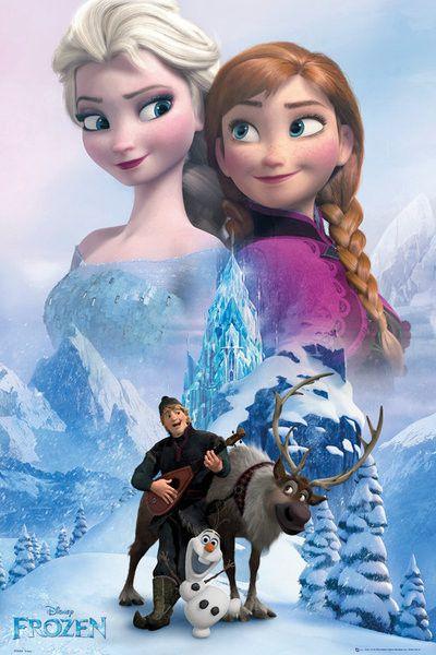 La Reine des neiges - Collage affiche / poster | Acheter en ligne sur EuroPosters