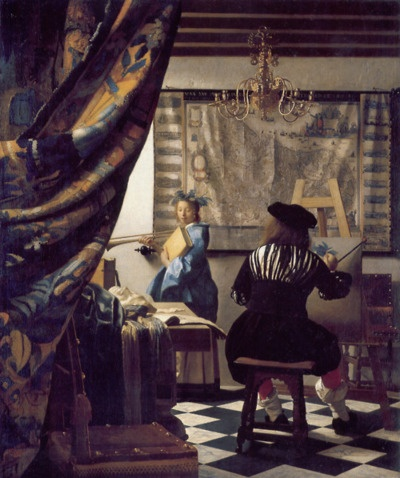artinthepicture:  The Art of Painting by Jan Vermeer