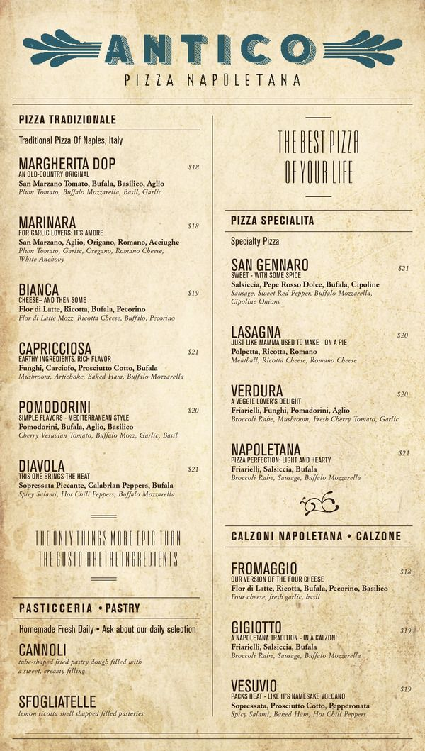 Best  Pizza Menu Design Ideas On   Pizzeria Menu
