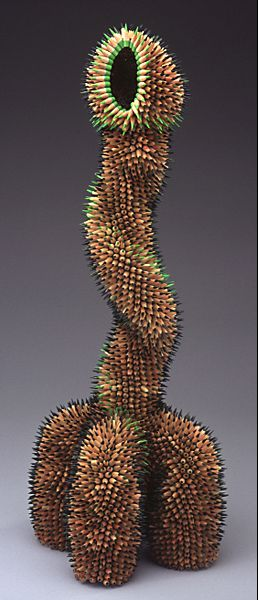 Okay so is it weird that I looked at this and immediately thought it was the most terrifying dildo I'd ever seen? Pencil sculpture by Jennifer Maestre