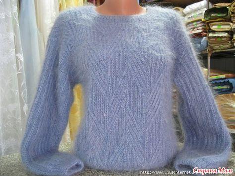 Девочки Искала в интернете какую- нибудь модель кардигана или жакета из мохера классик. И нашла вот такой свитерок. Очень милый, простой и уютный.
