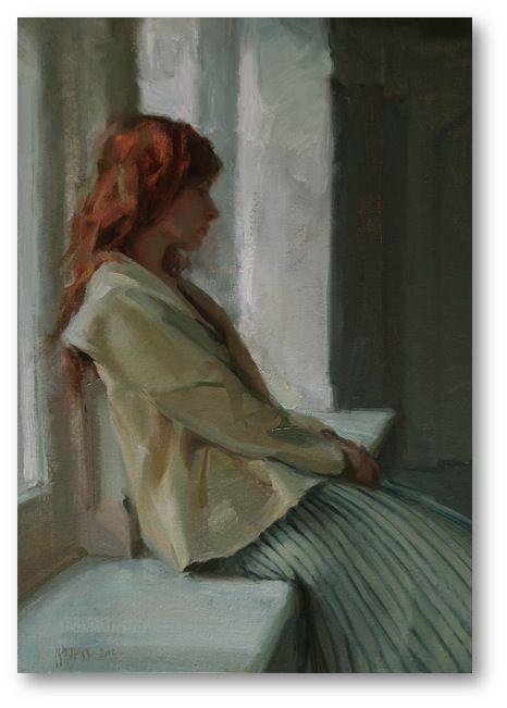 A Sense of Calm. 14 x 24 in, oil on canvas. Johanna Harmon