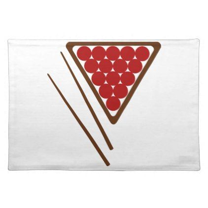 Snooker Rack and Snooker Cues Placemat - kitchen gifts diy ideas decor special unique individual customized