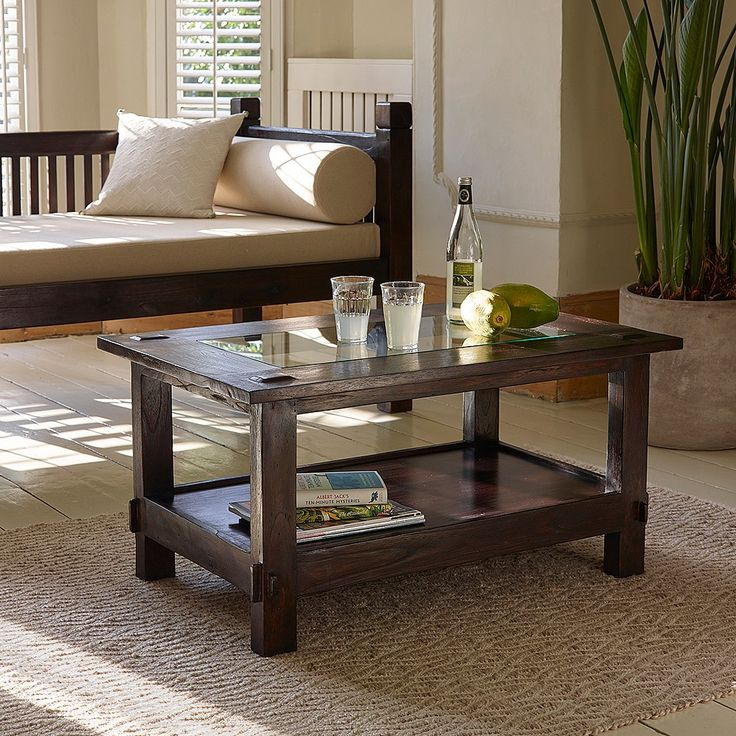 Blora Glass Top Coffee Table Small