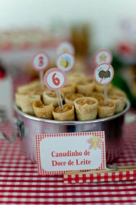 Decor party Festa pic nic - Delicia de canudinho de doce de leite!
