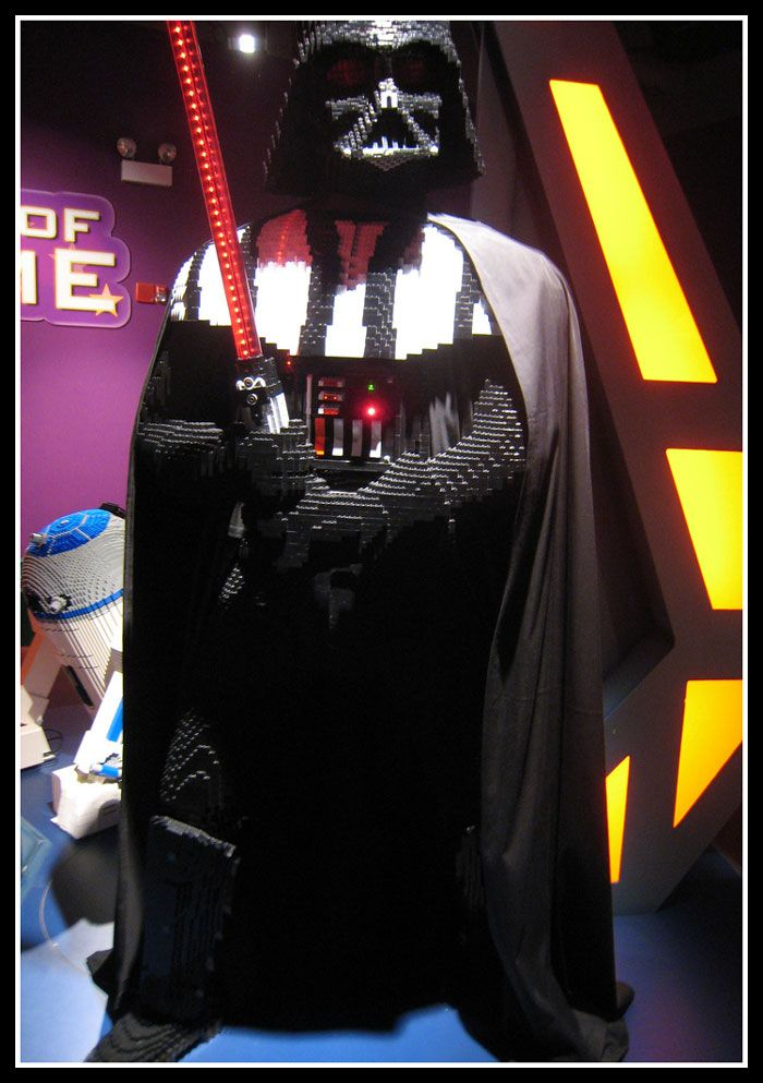 Life Size Lego Darth Vader from Star Wars | Lego Art ...