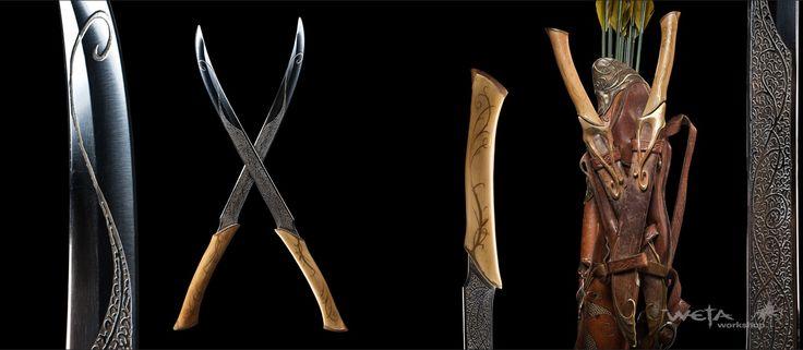 Legolas' Daggers | Weta | Pinterest | Legolas