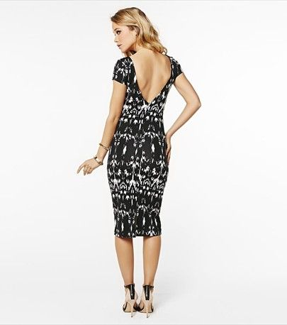 Pair this chic navajo midi dress with a blazer for the office or with wedges and a statement necklace for cocktails.