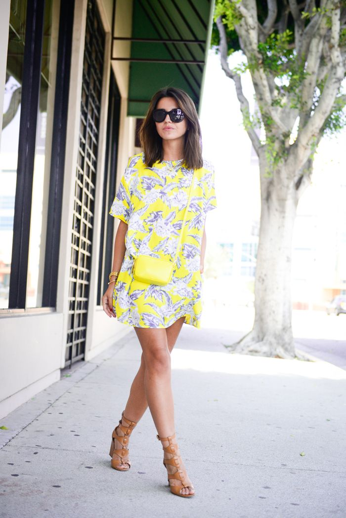 Asos Yellow Print Dress - Lovely Pepa http://FashionCognoscente.blogspot.com