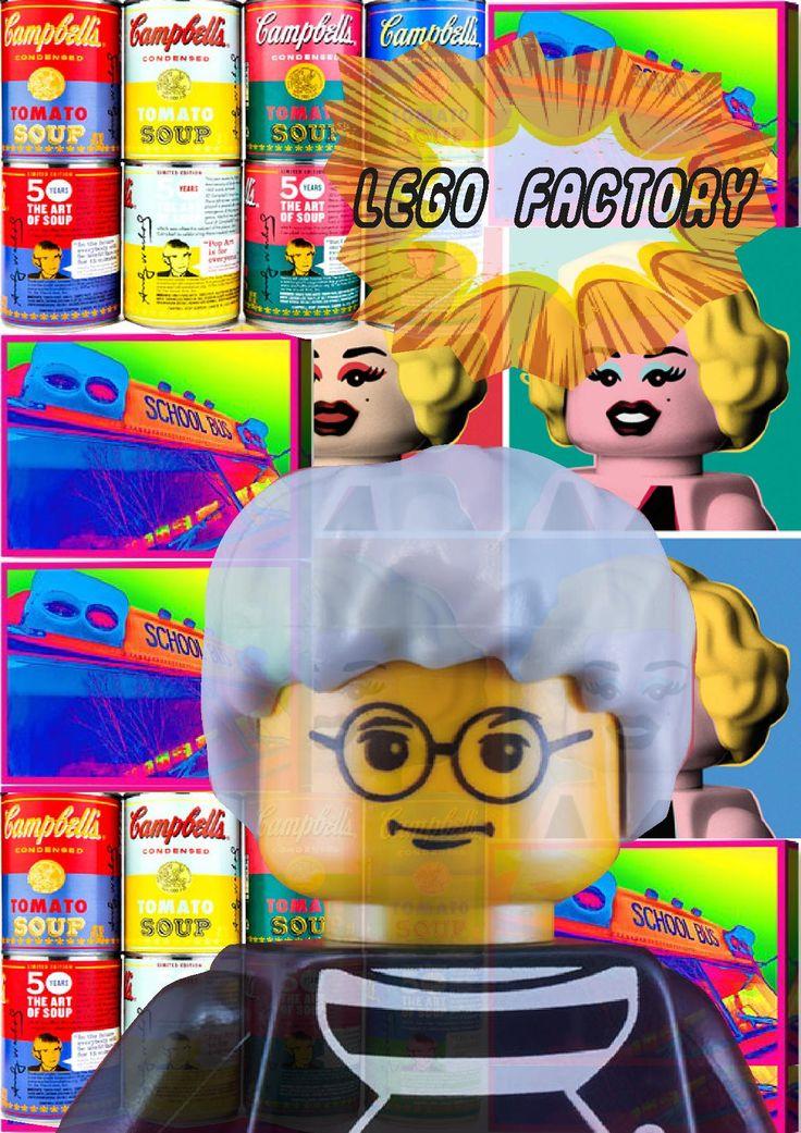 Lego Man Andy Warhol ''Lego Factory''