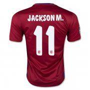 2015-2016 Season Atletico Madrid JACKSON M. 11 Home Soccer Jersey