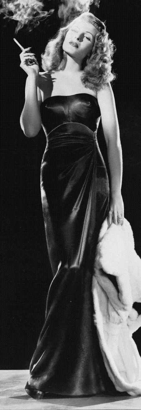 "Rita Hayworth (1918-1987) in ""Gilda."""