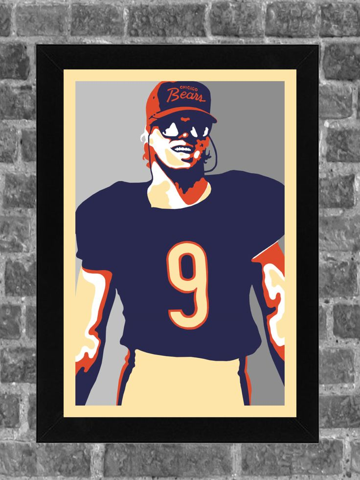 Chicago Bears Jim McMahon Portrait Sports Print Art 11x17 by FanFourLife on Etsy https://www.etsy.com/listing/229254066/chicago-bears-jim-mcmahon-portrait