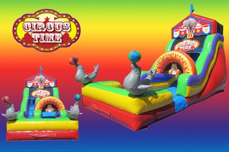 Our brand new Circus Time Slide is a versatile as it is FUN! http://texasentertainmentgroup.com/attractions/slides/circus-time-slide/