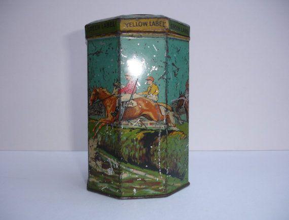 Vintage Grand National Lyons Tea Tin Vintage Tea Tin by FillyGumbo, $175.00