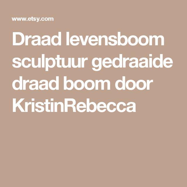 Draad levensboom sculptuur gedraaide draad boom door KristinRebecca