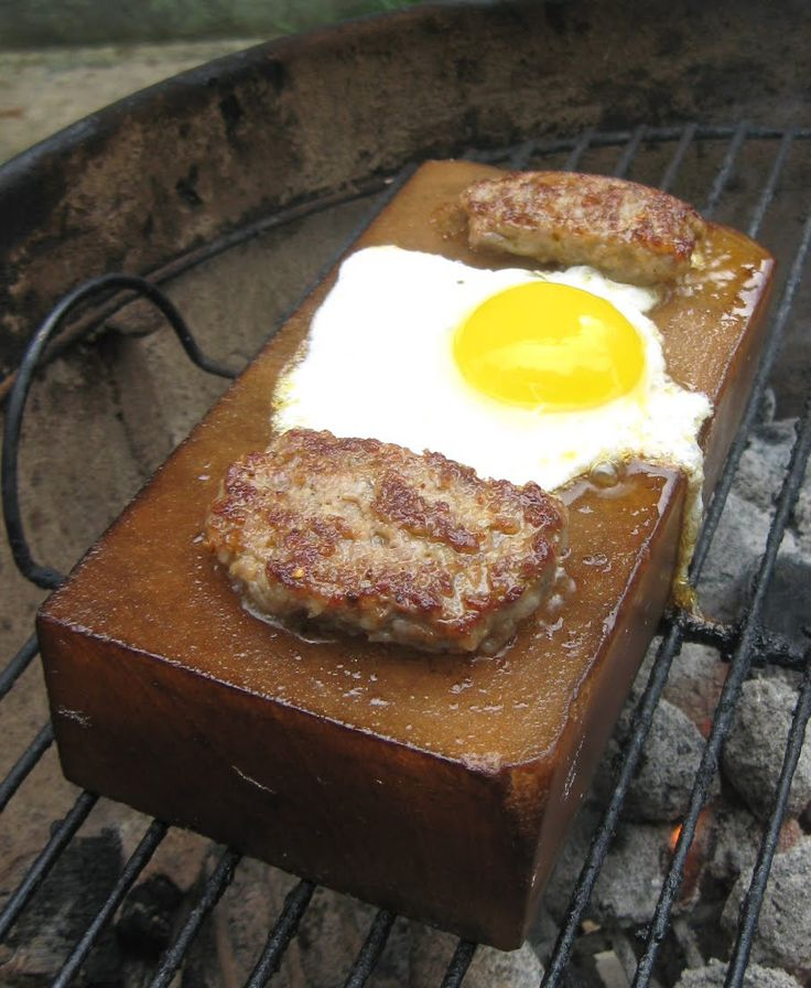 Barbecue Master Grilling on the Weber Kettle with a Meadow Himalayan Salt  Block