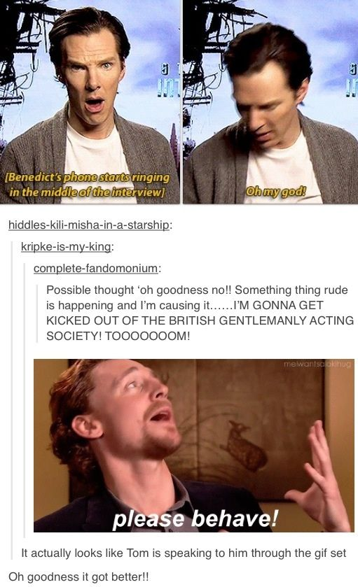 Naughty, Benny!! It's too perfect I can't stop laughing! (gifset)