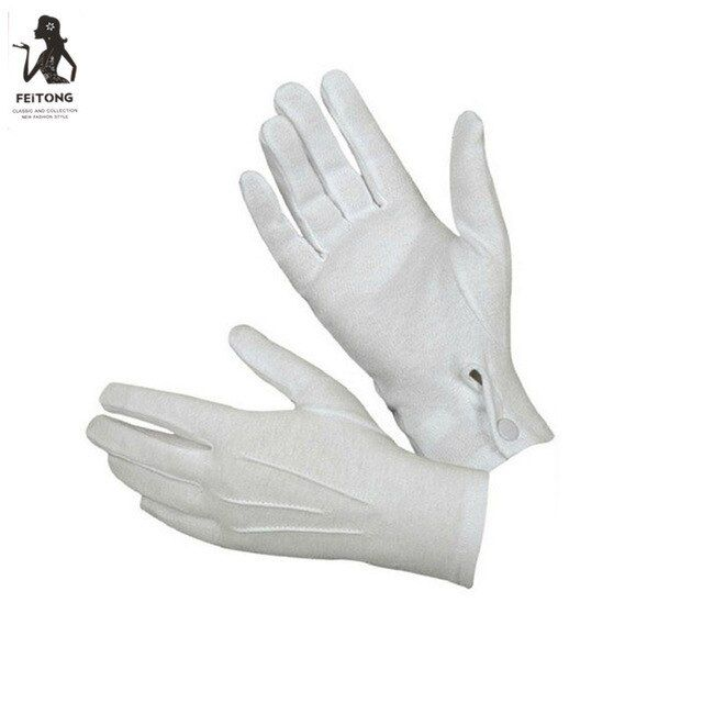 """Tuxedo Parade Short Formal Santa Gloves With Snap 10/"""" Adult Costume Accessory"""